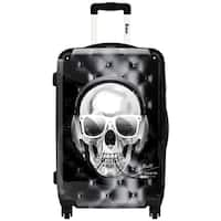 iKase 'Skull Electric'  Check-in 24-inch,Hardside Spinner Suitcase
