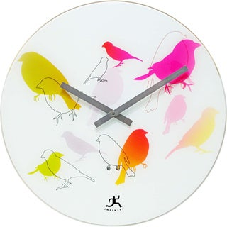 Infinity Instruments 15.75-inch Bird Lovers Wall Clock