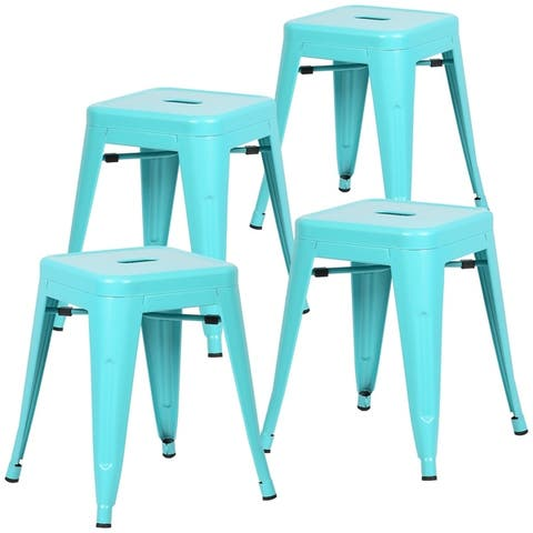 EdgeMod Trattoria 18-inch Table Stool Matte Finish (Set of 4)
