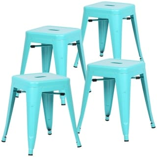 Edgemod Trattoria 18-inch Table Stool Matte Finish (Set of 4)  sc 1 st  Overstock.com & 18-inch Metal Stool (Set of 2) - Free Shipping Today - Overstock ... islam-shia.org
