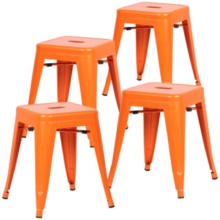 Poly and Bark Trattoria 18-inch Table Stool Matte Finish (Set of 4)
