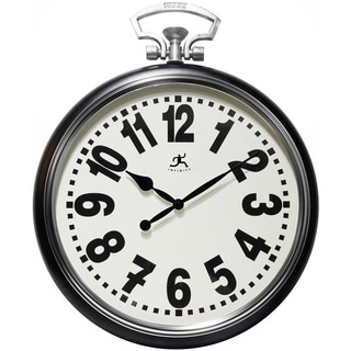 Infinity Instruments Glass/Steel 25-inch Broadway Wall Clock