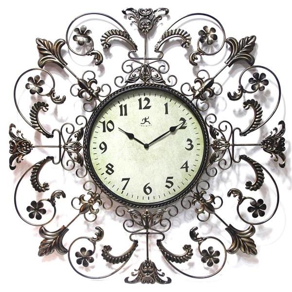 Infinity Instruments Gl Steel 26 Inch Fleur De Lis Wall Clock