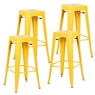 Edgemod Trattoria 30-inch Bar Stool Matte Finish (Set of 4)
