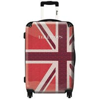iKase 'Lollipops London Red Flag' ,Check-in 24-inch .Hardside Spinner Luggage