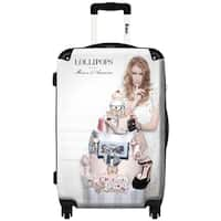 iKase 'Lollipops   Discrete' 24-inch .Hardside Spinner Spinner Luggage