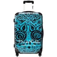 iKase 'Frida Kahlo Skull Head Blue' ,Check-in 24-inch .Hardside Spinner Luggage