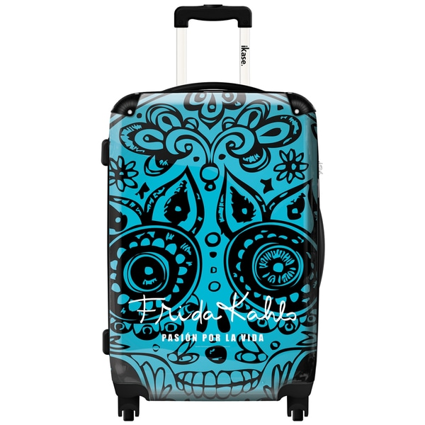 iKase 'Frida Kahlo Skull Head Blue' ,Check-in 24-inch .Hardside Spinner Luggage