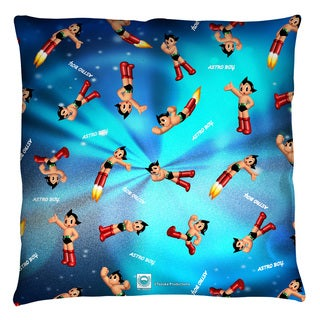 Astro Boy/Pattern Throw Pillow