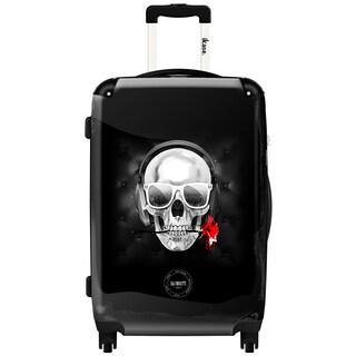 iKase 'Skull and Rose Blk' 24-inch Fashion Hardside Spinner Suitcase