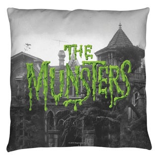 Munsters/Logo Throw Pillow