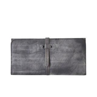 Diophy 8160 Distressed Vintage Genuine Leather Luxury Fashion Wallet (Option: Purple)