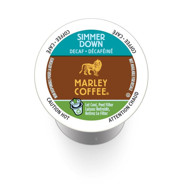 Marley Coffee Simmer Down Decaf, RealCup Portion Pack For Keurig Brewers