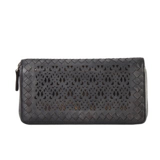 Diophy Luxury Distressed Vintage Genuine Leather Sequins Woven Wallet|https://ak1.ostkcdn.com/images/products/12248850/P19090856.jpg?_ostk_perf_=percv&impolicy=medium