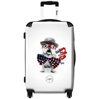 iKase 'Crazy Dog' Check-in 24-inch,Hardside Spinner Suitcase