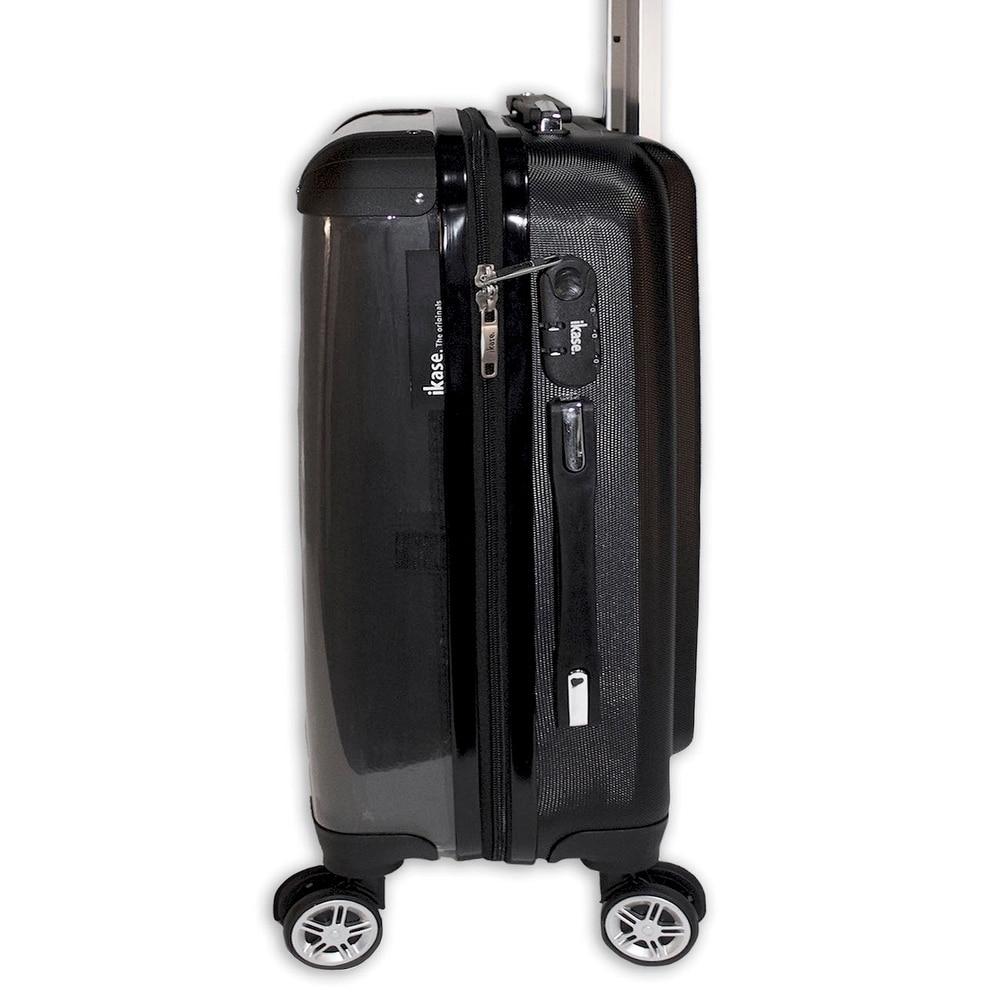 Ikase Hardside Spinner Luggage American Dog flag