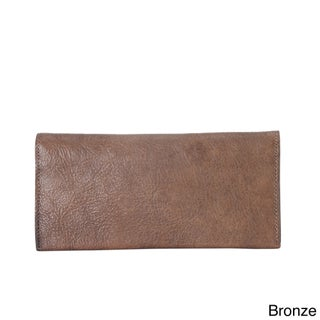 Diophy 8174 Simple Distressed Genuine Leather Wallet