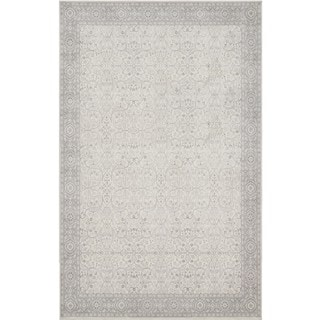 Style Haven Vision Grey/Ivory Synthetic Faded Traditional Rug (9'10 x 12'9)