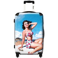 iKase 'Pin-up Playa Blue Sky' ,Check-in 24-inch .Hardside Spinner Luggage