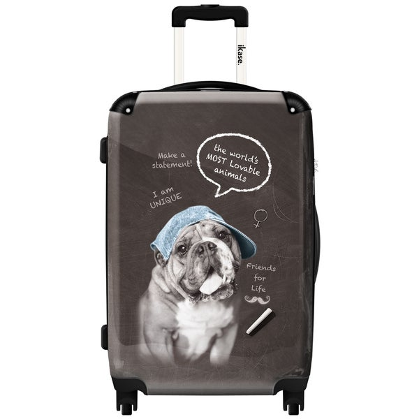 iKase 'Rebel Dog' Check-in 24-inch,Hardside Spinner Suitcase