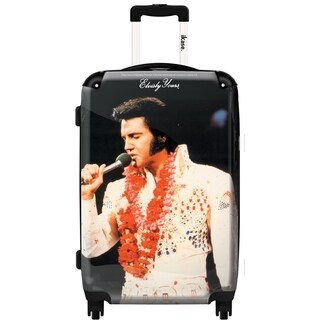 iKase 'Elvis Presley Check-in 24-inch,Hardside Spinner Suitcase