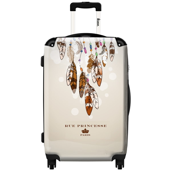 iKase 'Feathers Parades' Check-in 24-inch,Hardside Spinner Suitcase