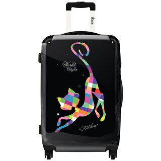 iKase 'Arlequin' Check-in 24-inch,Hardside Spinner Suitcase