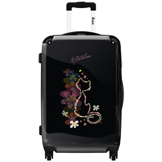 iKase 'Cat Shape in Flower' Check-in 24-inch,Hardside Spinner Suitcase