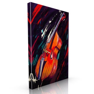 Maxwell Dickson 'Double Bass' Modern Canvas Wall Art