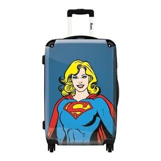 iKase 'Portrait Comics Supergirl' 24-inch Fashion Hardside Spinner Suitcase