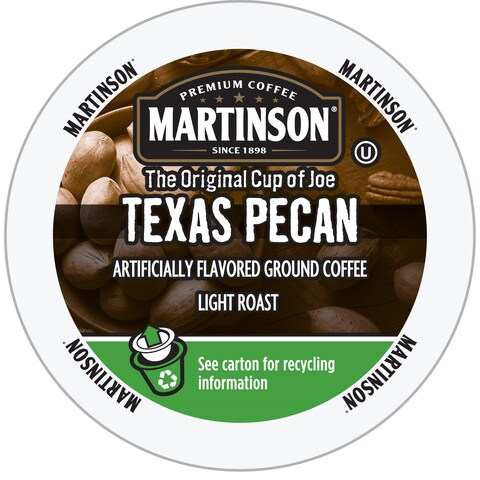 Martinson Coffee Texas Pecan, RealCup Portion Pack For Keurig Brewers