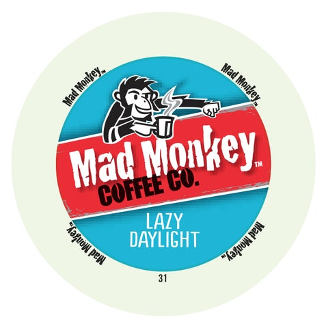Mad Monkey Coffee Lazy Daylight, RealCup Portion Pack For Keurig Brewers