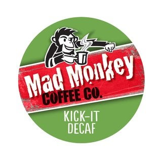 Mad Monkey Kick It Decaf RealCup Portion Pack for Keurig Brewers