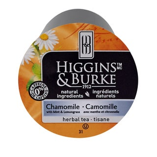 Higgins & Burke Specialty Tea Chamomile With Mint RealCup Portion Pack for Keurig Brewers