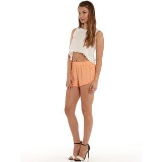 Minkpink Peach Ruffle Shorts