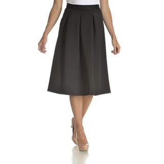 Chelsea & Theodore Women's Pleated Mid-length Skirt