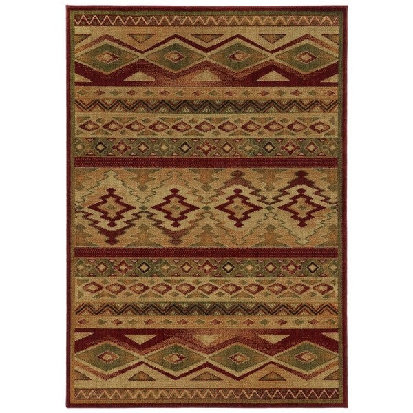 Style Haven Nash South West Tribal Brown Red Rug 7 8 X 10