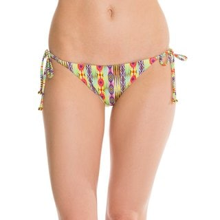 PilyQ Sunbeam Geomteric-print Tie-side Teeny Bikini Bottom