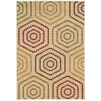Style Haven Joyful Dots Beige/Gold Rug (7'10 X 10')