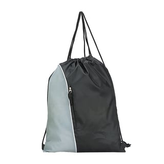 Goodhope Black and Grey Drawstring Backpack