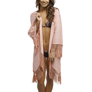 PilyQ San Sebastion Lauren Pink Kimono Cover-up