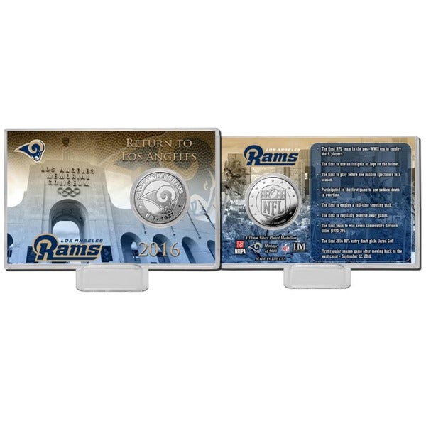 Los Angeles Rams Silver Coin Card