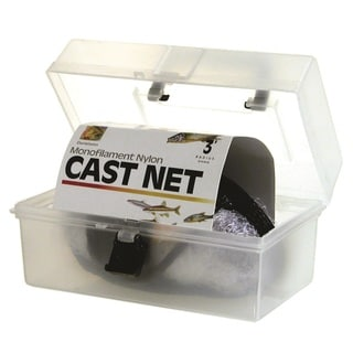 Danielson Monofilament Nylon 3' Cast Net with Carry Box