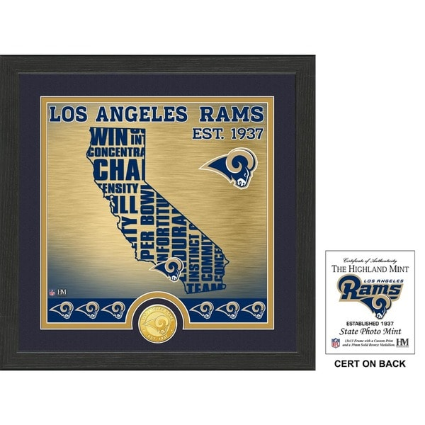 """Los Angeles Rams """"State"""" Bronze Coin Photo Mint"""