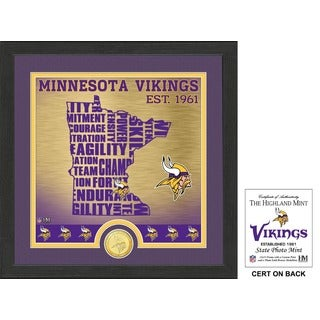 "Minnesota Vikings ""State"" Bronze Coin Photo Mint - Multi-color"