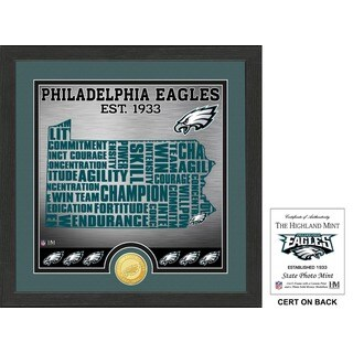 "Philadelphia Eagles ""State"" Bronze Coin Photo Mint - Multi-color"