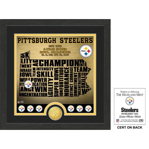 "Pittsburgh Steelers ""State"" Bronze Coin Photo Mint"