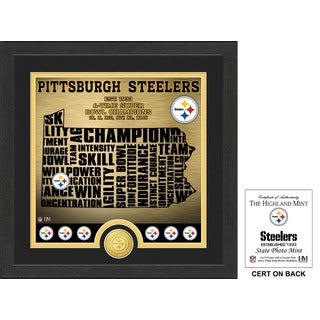 "Pittsburgh Steelers ""State"" Bronze Coin Photo Mint - Multi-color"