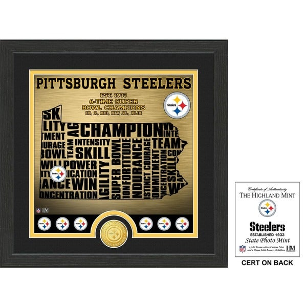 """Pittsburgh Steelers """"State"""" Bronze Coin Photo Mint"""
