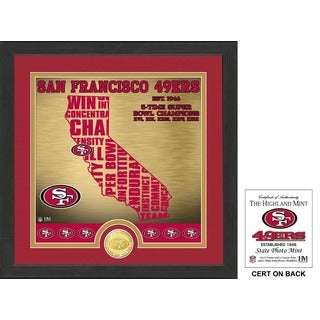 "San Francisco 49ers ""State"" Bronze Coin Photo Mint"